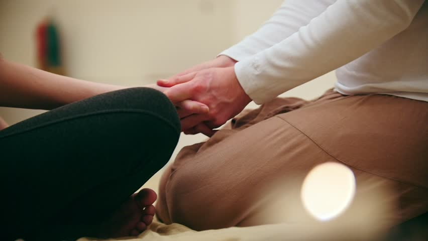 Thai massage session - mash the hand, close up | Shutterstock HD Video #24147541