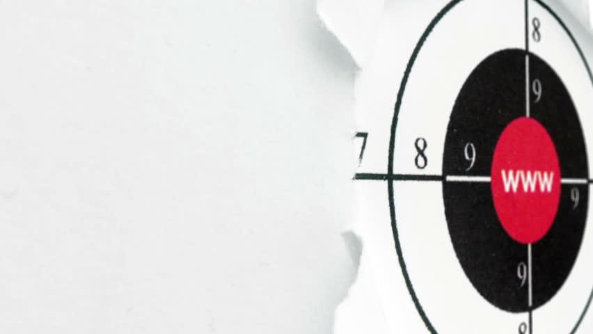 Www target on paper hole | Shutterstock HD Video #24157603