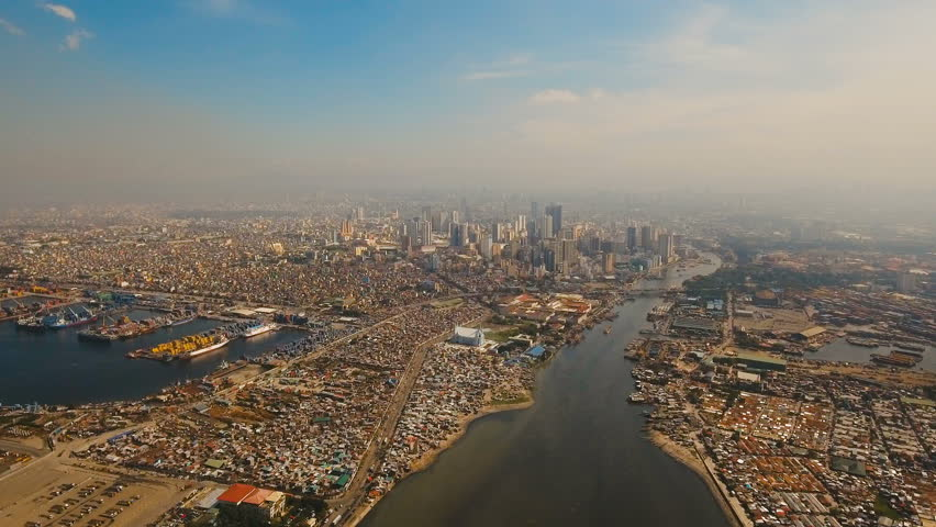 Aerial view skyline of Manila city.  | Shutterstock HD Video #24157765