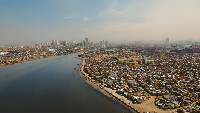 Aerial view skyline of Manila city.  | Shutterstock HD Video #24157783