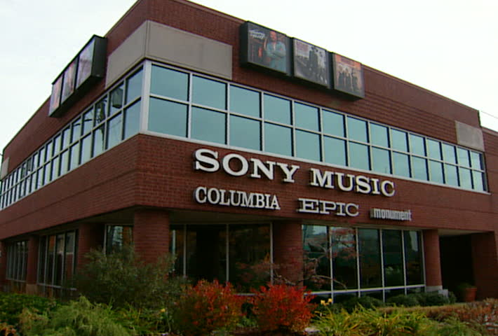 NASHVILLE - Circa 2002: Sony Music on Music Row in Nashville, TN in 2002 - SD stock footage clip