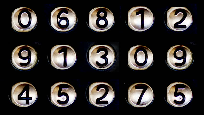 Pattern made from sequence of metal number buttons | Shutterstock HD Video #24328