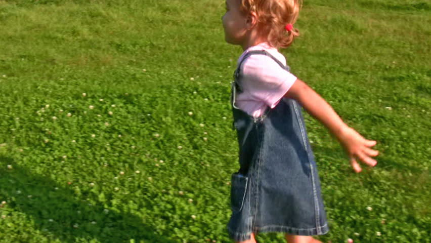 girl running to embrace mother  - HD stock video clip