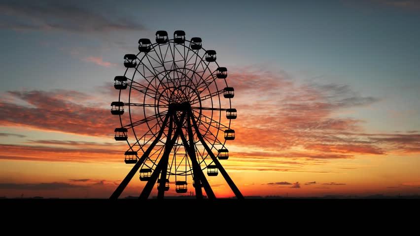 Ferris Wheel Looped footage - HD stock footage clip
