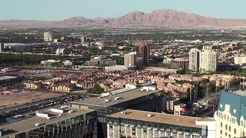 Outskirts of Las Vegas. Bird's-eye view. - HD stock video clip