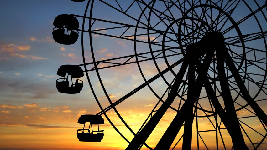 Ferris Wheel Full Hd video - HD stock footage clip