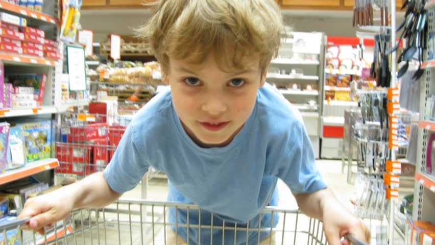 child in shop. Time lapse  - HD stock video clip