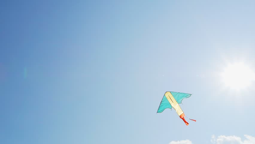 kite flying in the sky - HD stock footage clip