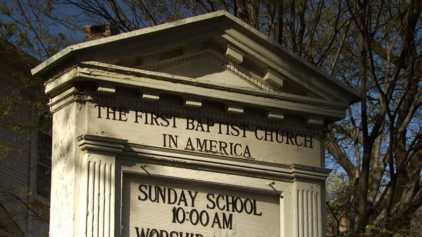 First Baptist Church in America, Providence, Rhode Island  - HD stock footage clip