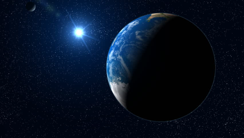 Blue Earth zoom.  Big blue filmic earth scene - camera travels through clouds to non specific area. - HD stock video clip