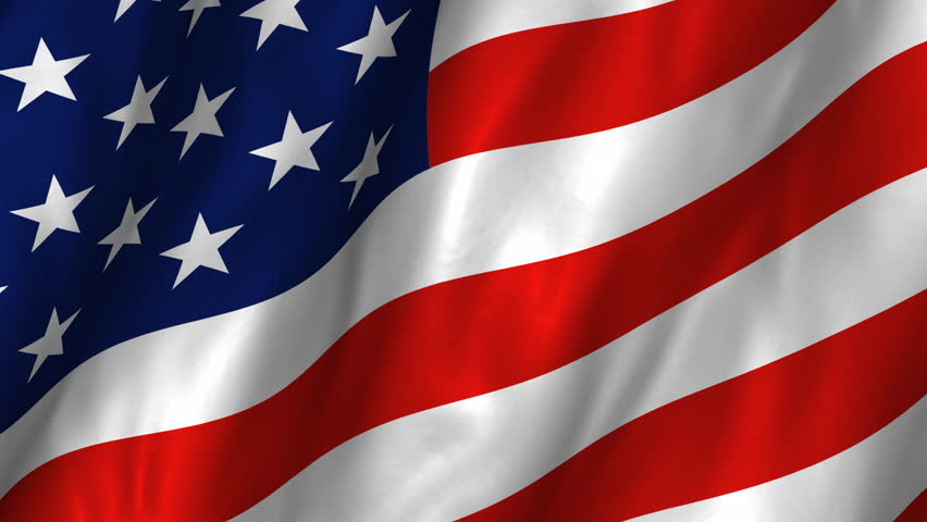 A beautiful satin finish looping flag animation of the USA.    A fully digital rendering using the official flag design in a waving, full frame composition.  The animation loops at 10 seconds.   - HD stock video clip