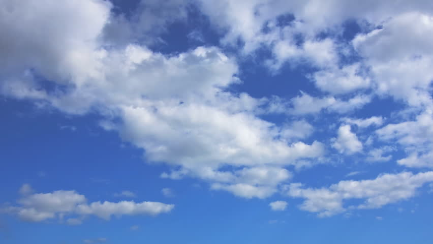 Timelapse of Clouds and Blue Sky - HD stock footage clip