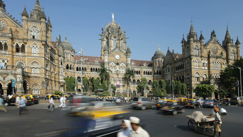 MUMBAI, INDIA - CIRCA MAY 2011: Chhatrapati Shivaji Terminus (Victoria Terminus), completed in 1887 today it is the busiest train station in Asia