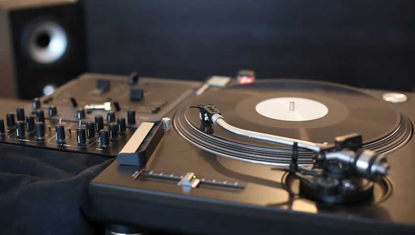 Turntable Vinyl Player Stock Footage Video 354709