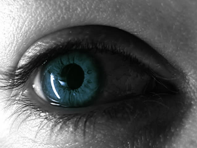 Female blue eye. Blink once. | Shutterstock HD Video #262180