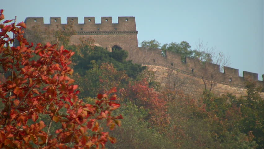 The Great Wall. Original section of The Great Wall, China - HD stock video clip