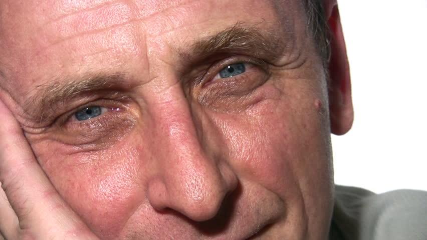 senior face  - HD stock footage clip