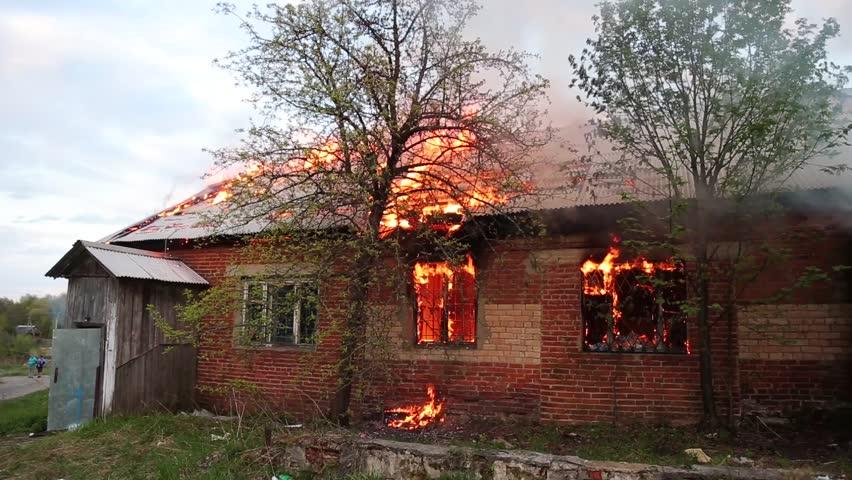 Burning house, fire | Shutterstock HD Video #26907238