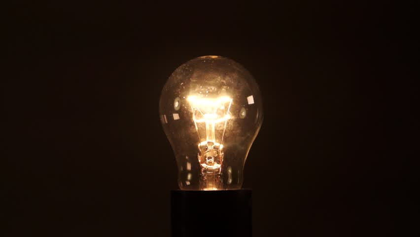 Light bulb on black background. Idea light bulb. electrical disturbances | Shutterstock HD Video #27088390