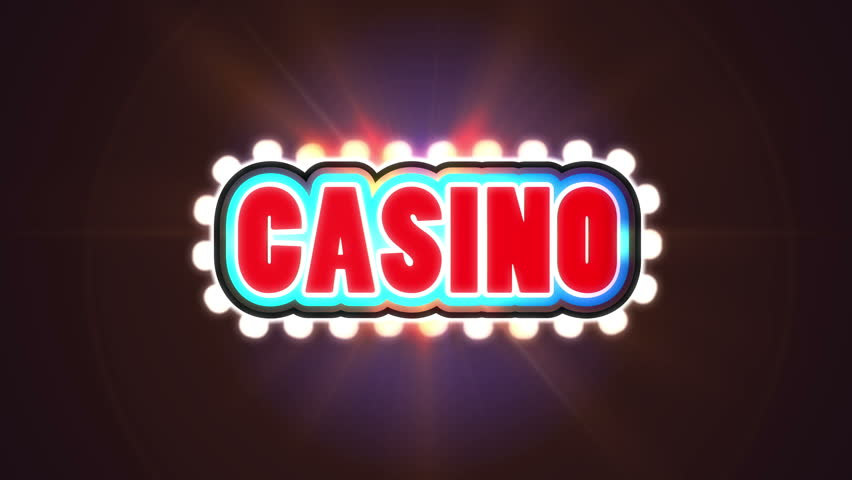 Red moving flashing Casino sign closeup - graphic animation | Shutterstock HD Video #27163675