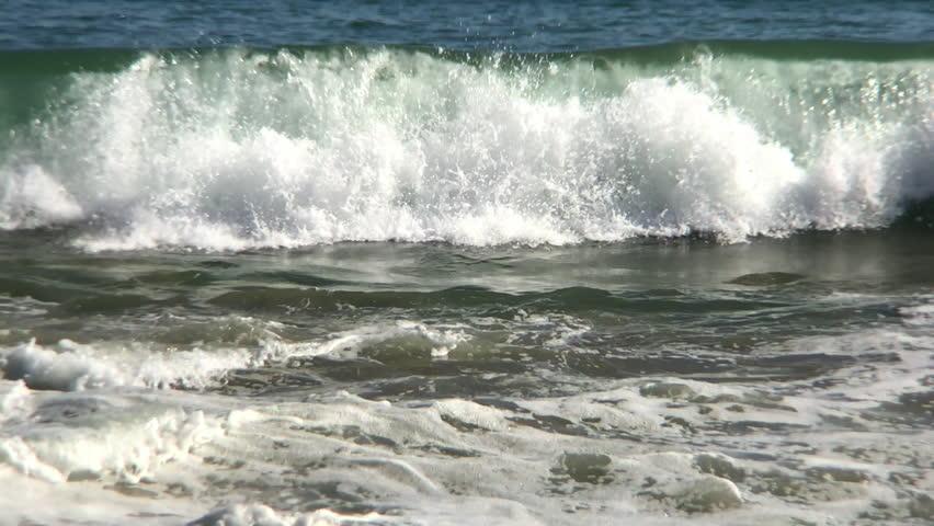 California Ocean waves in Los Angeles. Slow Motion Shuts | Shutterstock HD Video #27185104