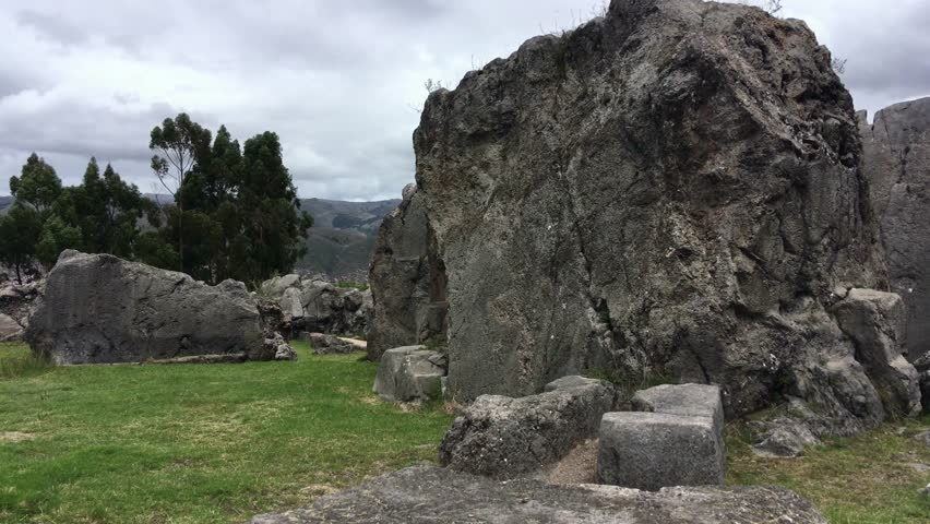 Monoliths in Qenko, an archaeological site in the Sacred Valley, Cusco, Peru. It is one of the largest holy places in the Cusco Region.