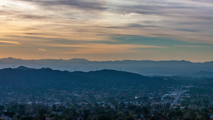 Los Angeles, California.  Colorful Sunset.   | Shutterstock HD Video #27191773