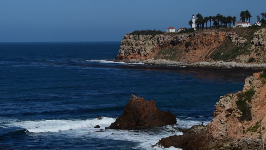 Point Vincente Lighthouse and ocean Rancho Palos Verdes, Ca.  | Shutterstock HD Video #27196831