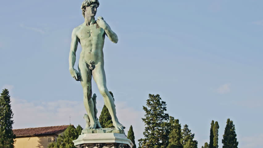 David by Michelangelo in bronze, Florence Tuscany Italy | Shutterstock HD Video #27211978