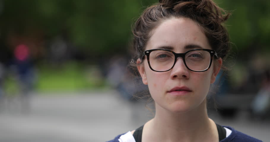 Caucasian woman in city park face portrait | Shutterstock HD Video #27248797