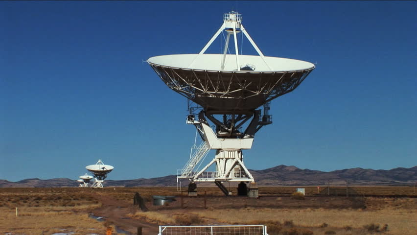 Very Large Array Satellite Dishes At Sunny Day In New ...