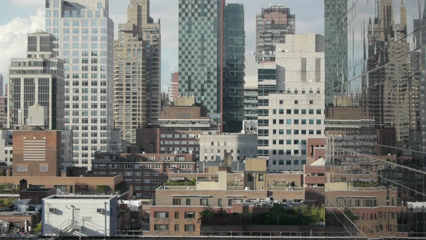 Aerial view of manhattan skyline | Shutterstock HD Video #27723889