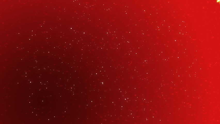Snowflake Rotates In Front Of Sparkling Red Background Hd