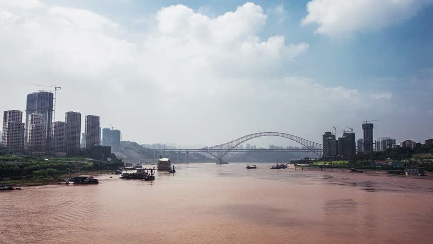 Yangtze River in chongqing,time lapse