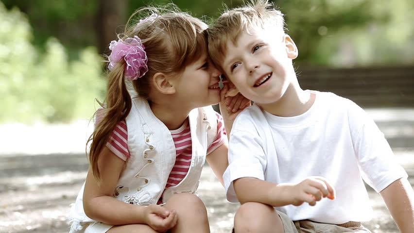 Two children having fun in park, outdoors   Shutterstock HD Video #2791558