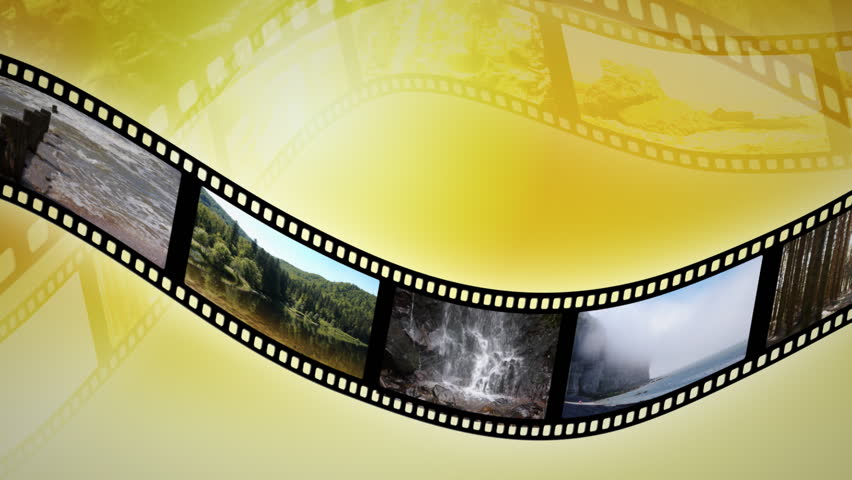 Animation of a reel clip France . Seamless loop. - HD stock footage clip