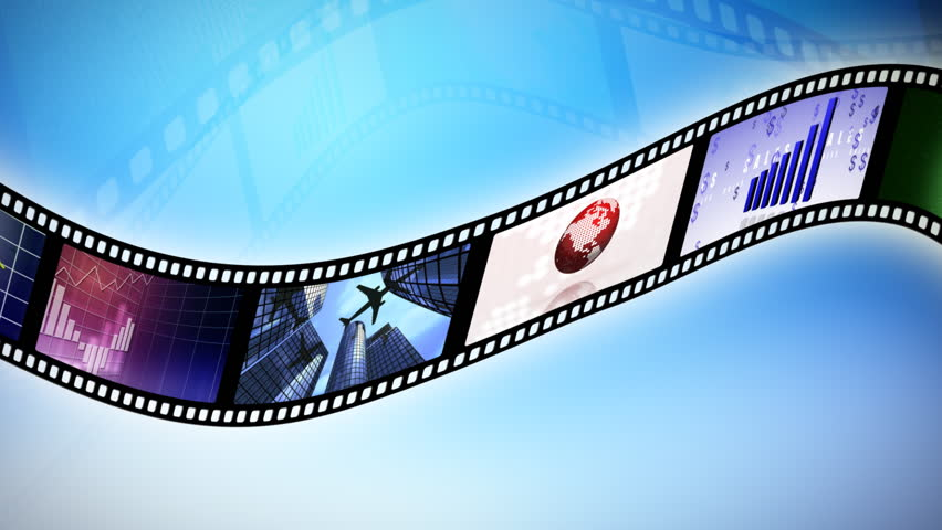 Animation of a reel clip business. Seamless loop. - HD stock video clip