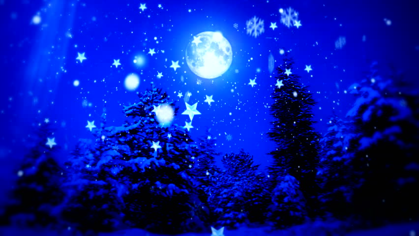 """New Year Snow Christmas and Moon ( Series 3 - Version from 1 to 12 )  """" Thing Different """"  [ BLUE and RED  ]  """" You can find every week new Footage """" + + + """" Have a look at the other Footage series """""""