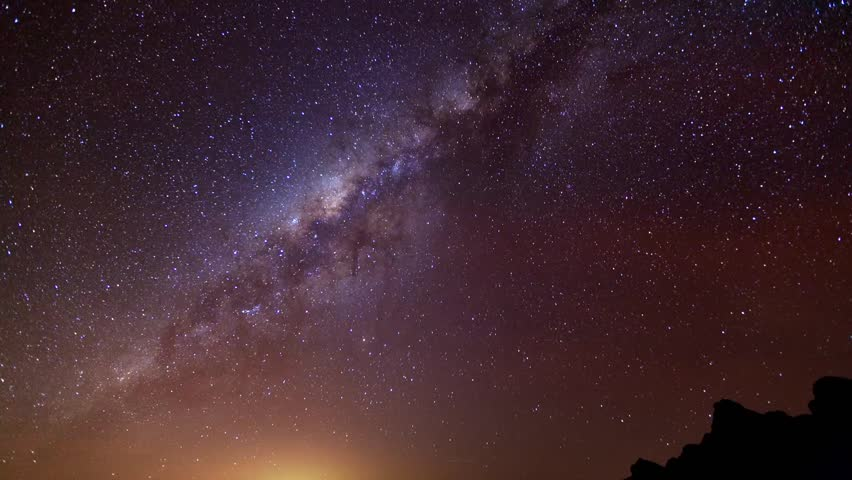 Night time lapse of Sagittarius A, a supermassive black hole that is belived to