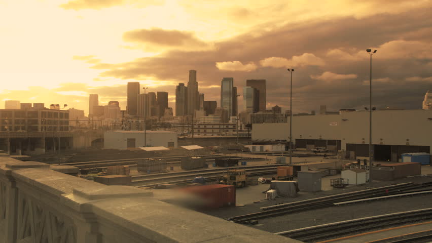 Los Angeles Sunrise Skyline Time lapse | Shutterstock HD Video #2820484