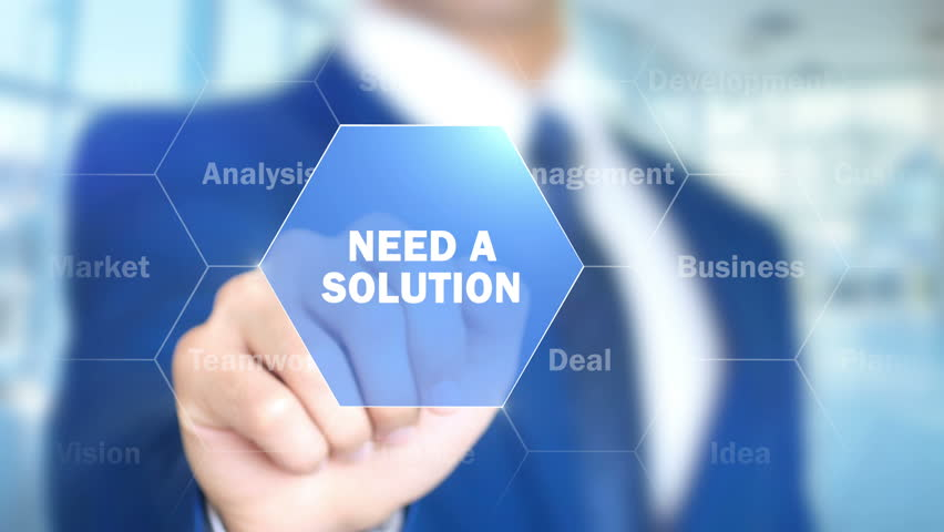 Need A solution, Man Working on Holographic Interface, Visual Screen | Shutterstock HD Video #28225405