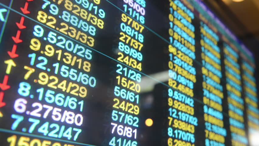 Stock Market board ,time lapse