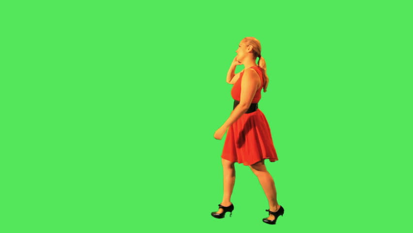 Female walking and on the phone | Shutterstock HD Video #2850895