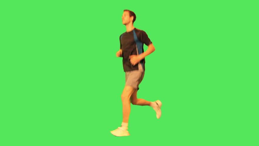 Male runner - HD stock footage clip