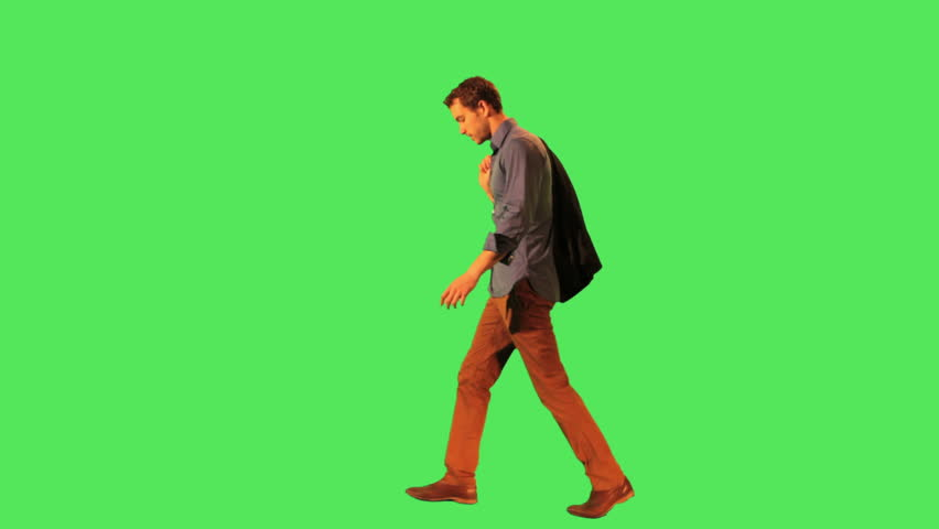 Male walking to work