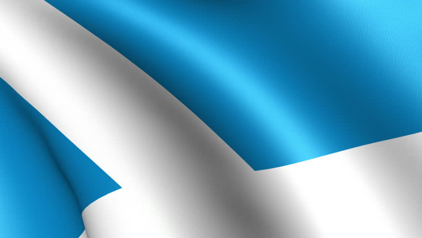 Scotland Flag Waving - HD stock footage clip