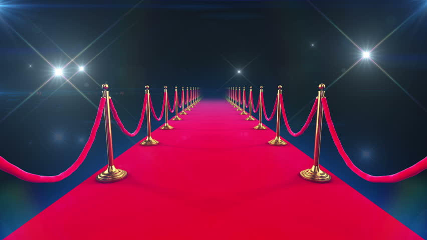 Red Carpet Event. Looped animation of a walk down and paparazzi camera flashes.
