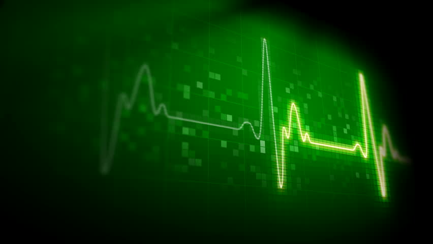 Seamlessly looping heart monitor.  - HD stock footage clip