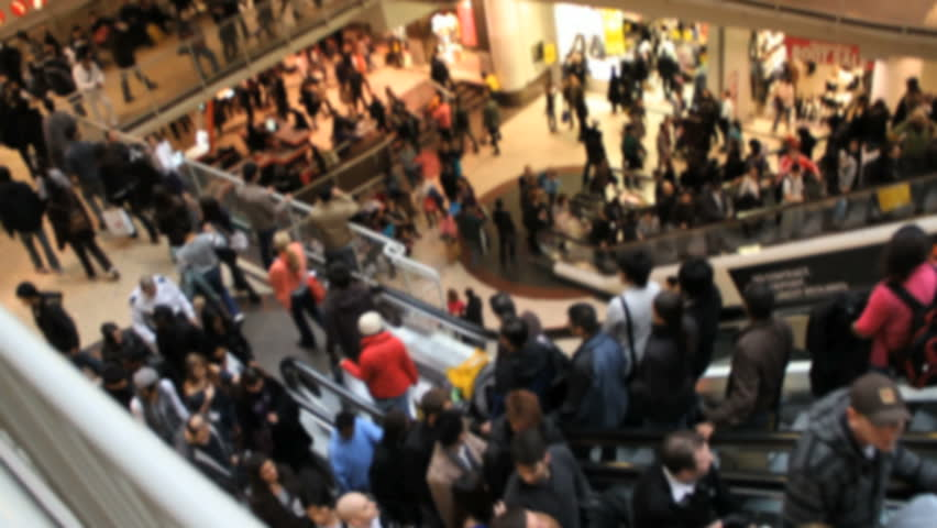 Shoppers at Busy Crowded Mall | Shutterstock HD Video #2874439