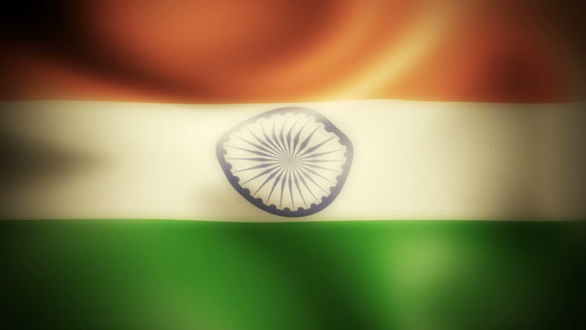 Indian Flag Animated: India Flag Waving Stock Footage Video 2849293